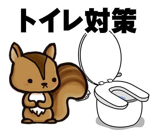 シマリスのトイレ対策